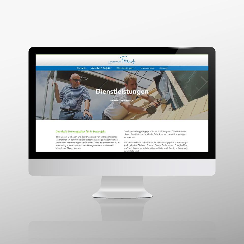 Klaus Schindhelm / Referenzen / Bauberatung Franz - Website - Dienstleistungen