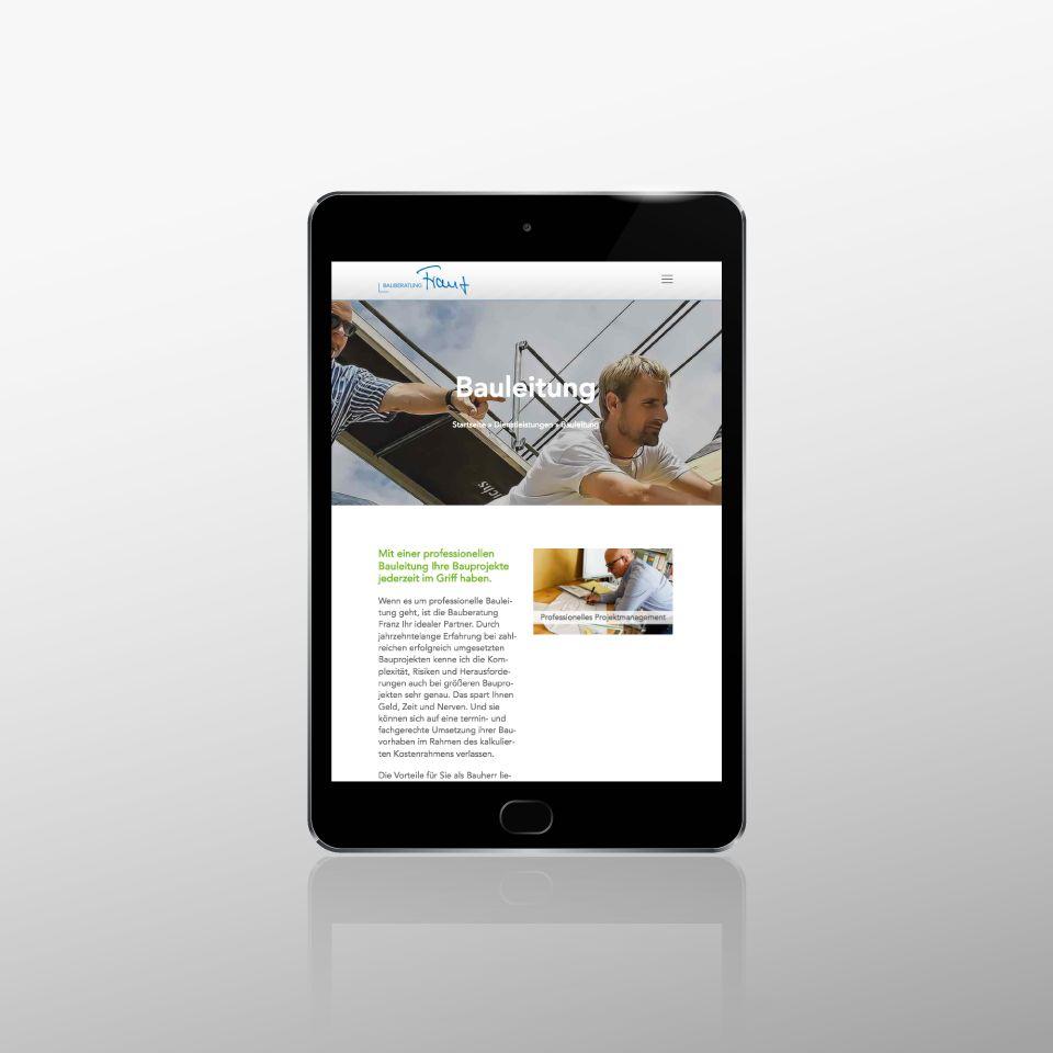 Klaus Schindhelm / Referenzen / Bauberatung Franz - Website - Bauleitung
