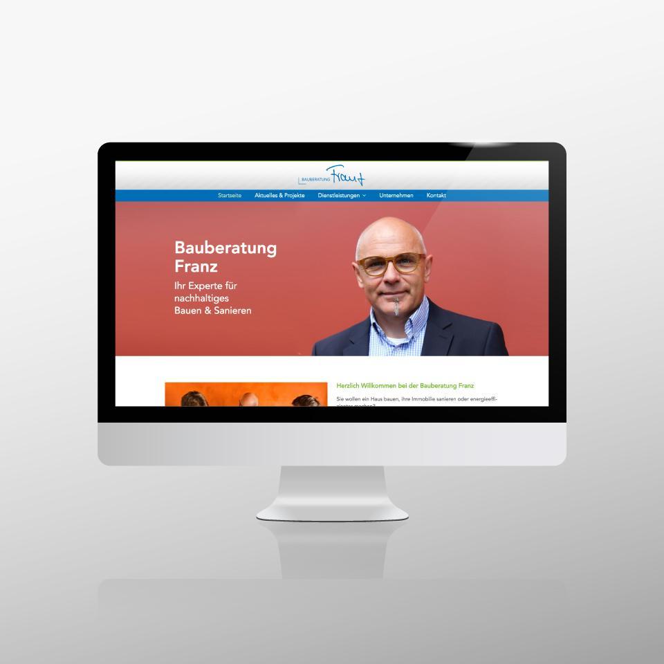 Klaus Schindhelm / Referenzen / Bauberatung Franz - Website