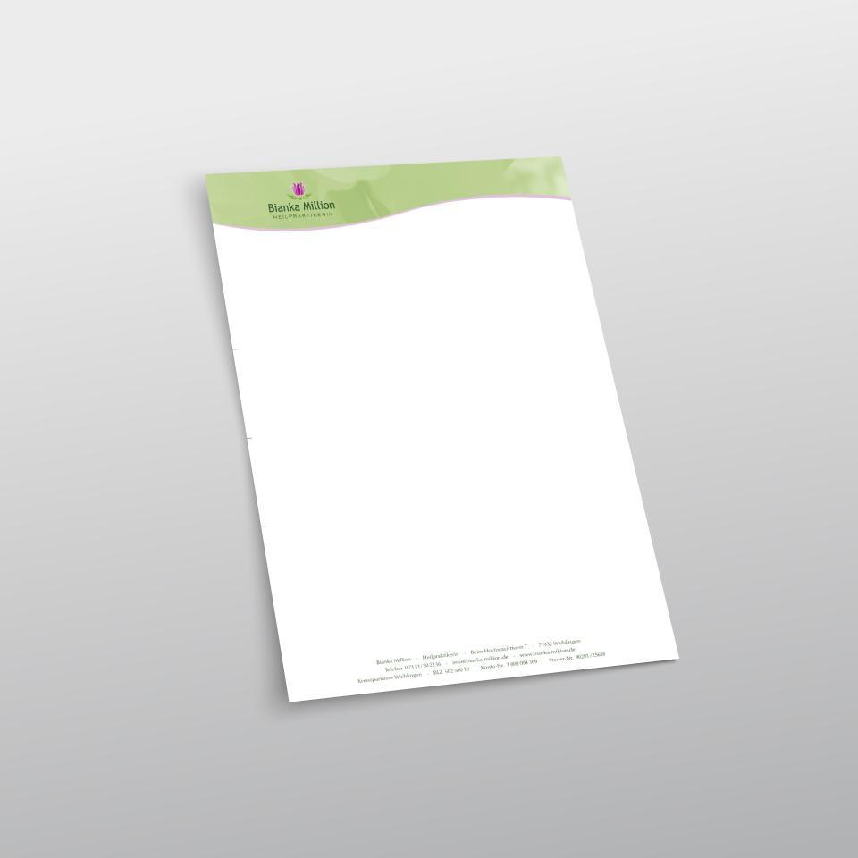 Klaus Schindhelm / Referenzen / Bianka Million - Briefbogen