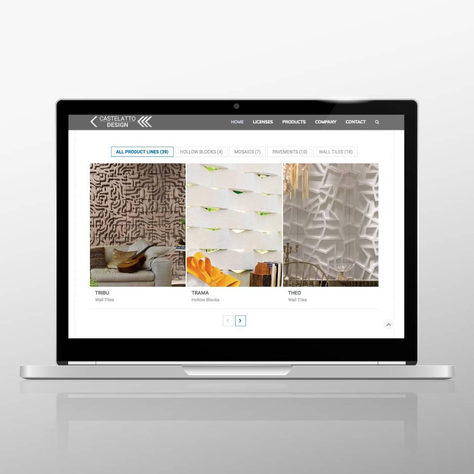 Klaus Schindhelm / Referenzen / Castelatto Design - Website - Products