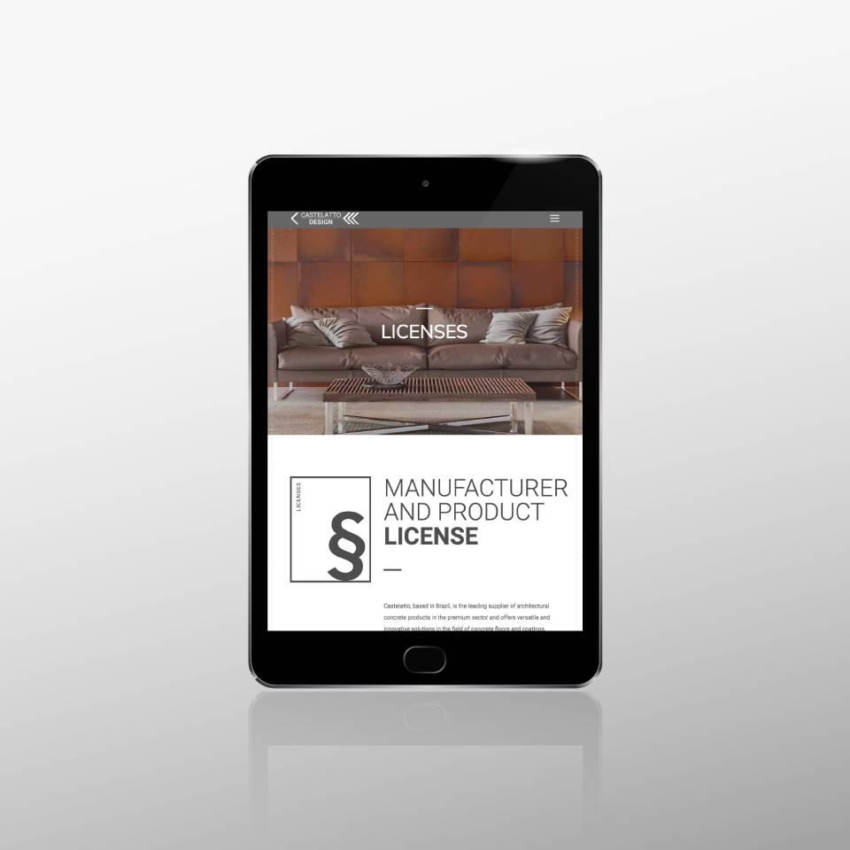 Klaus Schindhelm / Referenzen / Castelatto Design - Website - Licenses