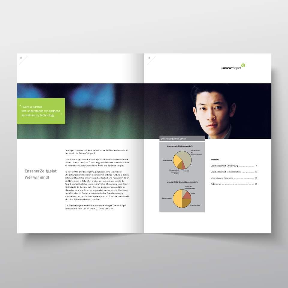 Klaus Schindhelm / Referenzen / EnssnerZeitgeist - Imagebroschüre