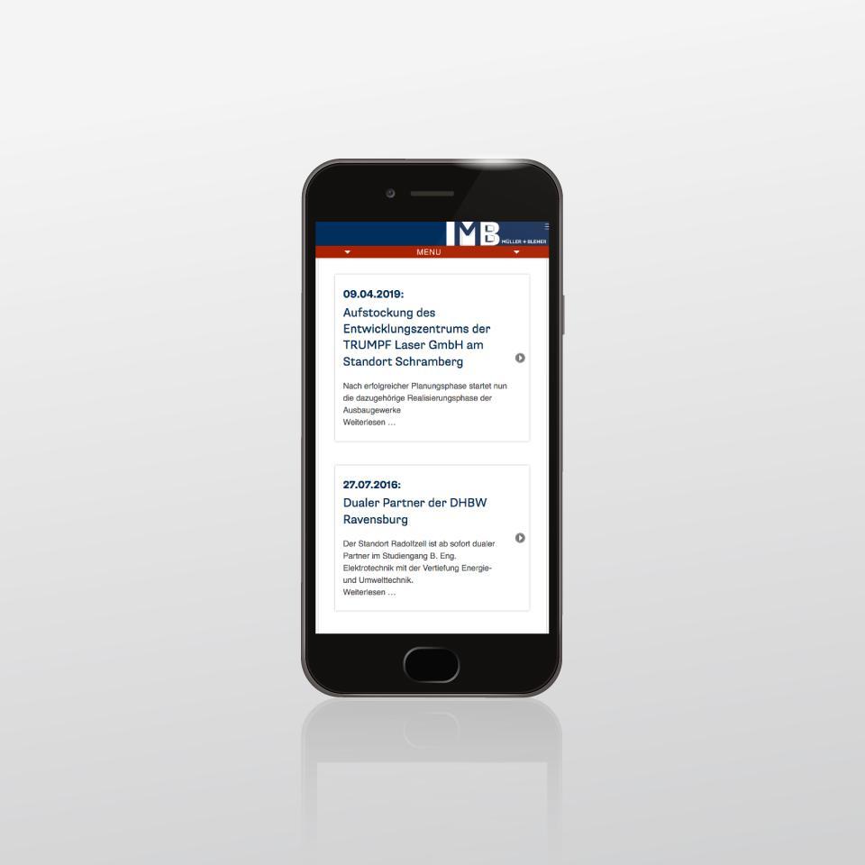 Klaus Schindhelm / Referenzen / Mueller & Bleher - Website
