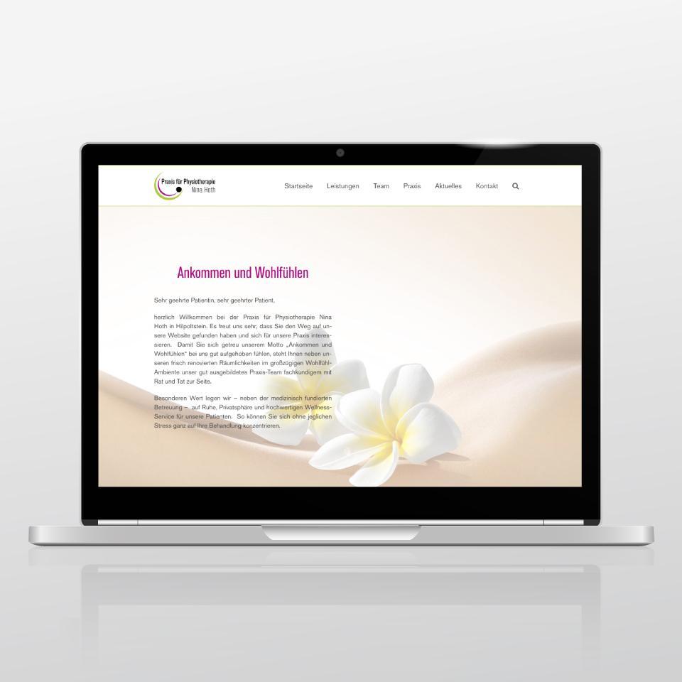 Klaus Schindhelm / Referenzen / Praxis für Physiotherapie Nina Hoth - Website