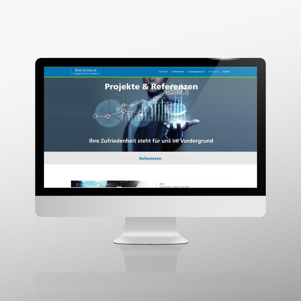 Klaus Schindhelm / Referenzen / Schindler Consulting - Website - Projekte