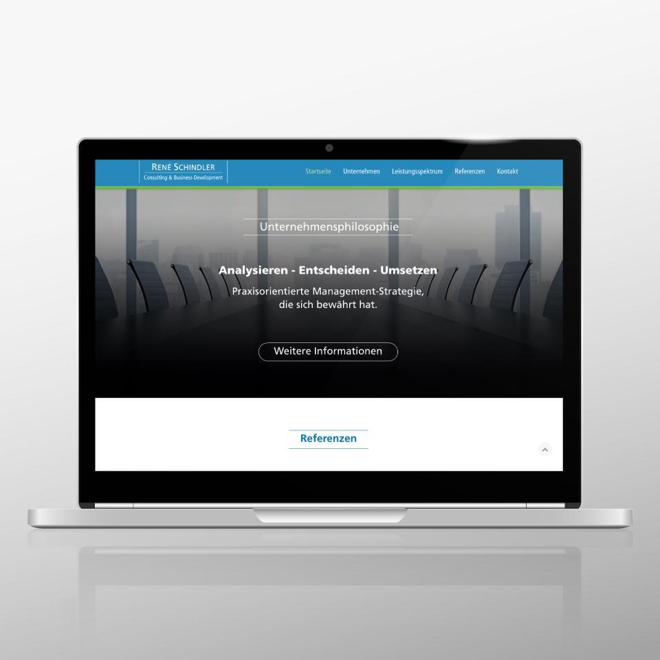 Klaus Schindhelm / Referenzen / Schindler Consulting - Website - Unternehmen