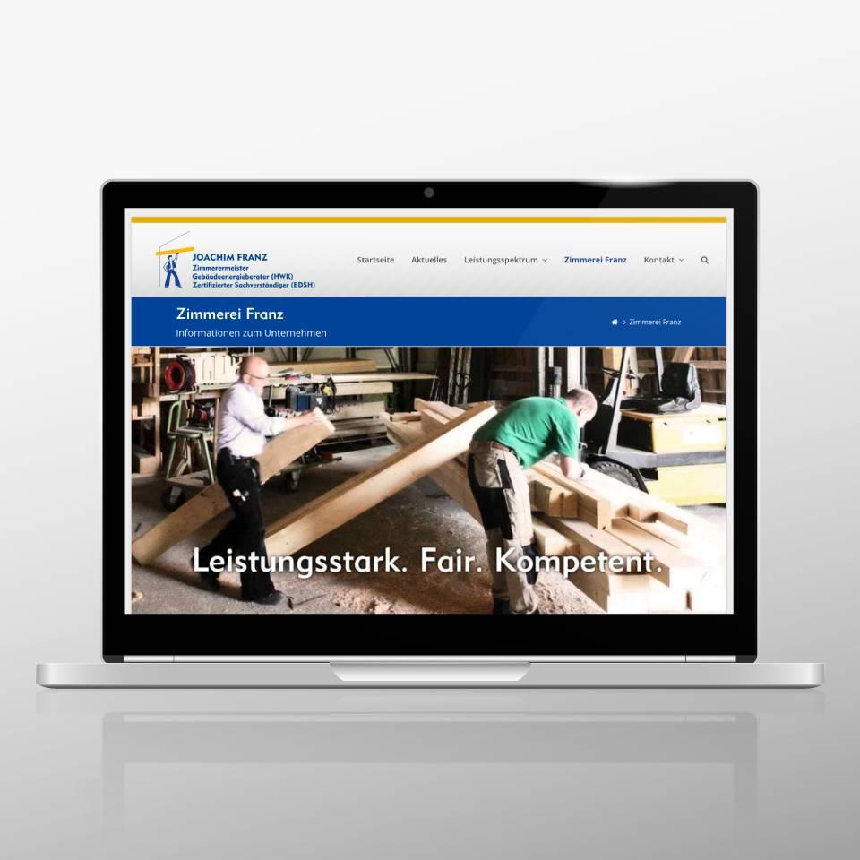 Klaus Schindhelm / Referenzen / Zimmerei Franz - Website - Unternehmen